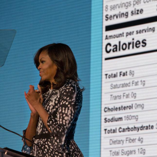 Michelle Obama FDA labels