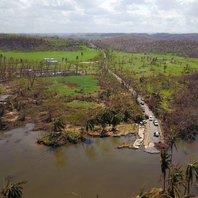 Hurricane Maria aerial