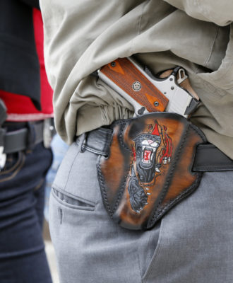 Open carry handguns