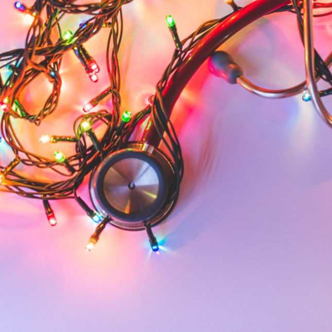 Stethoscope & Christmas lights