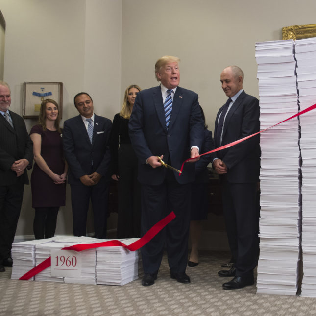 Trump red tape