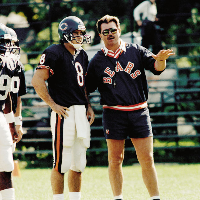 89b15912a Chicago Bears  coach Mike Ditka talks with quarterback Mike Hohensee