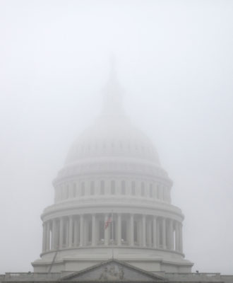 The Capitol Dome - fog