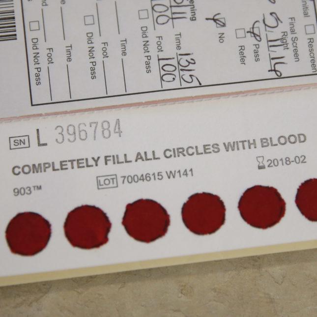 Newborn Blood Samples