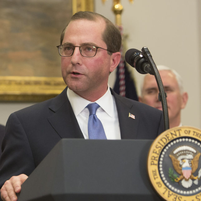 Alex Azar - Sworn In At The White House