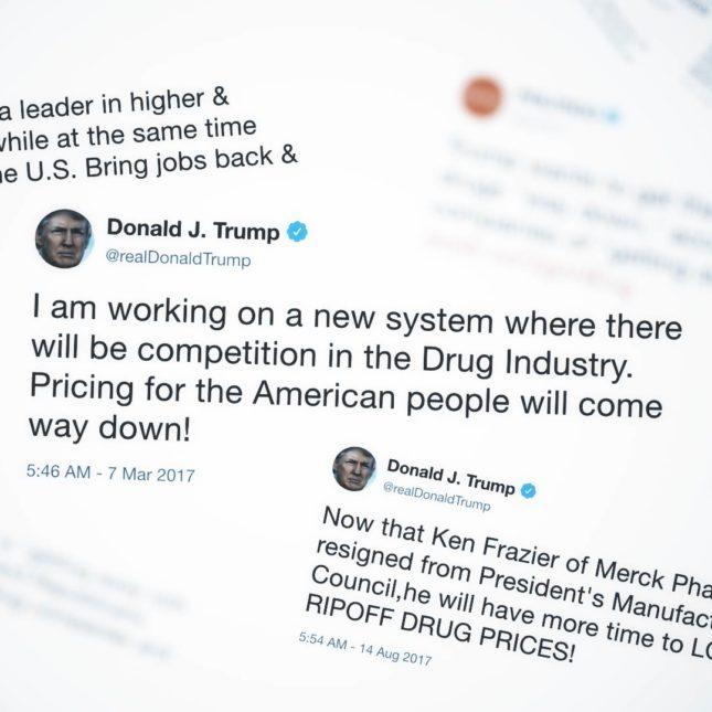 Trump Pharma Tweets