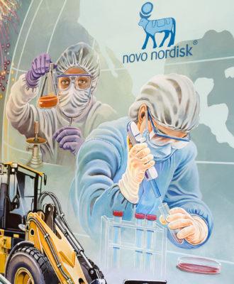 Clayton Novo Nordisk Mural