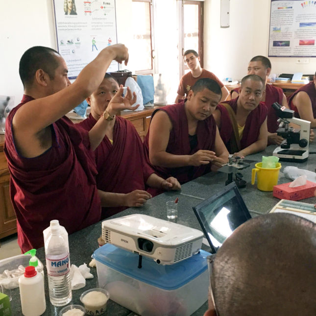 Tibetan Buddhist Monk Science