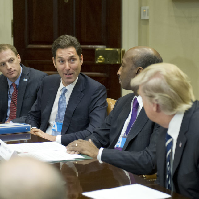 On drug pricing phrma pushes for lower payments to pbms stephen ubl phrma president and ceo second from left at a white house meeting in january 2017 with drug company ceos and president trump malvernweather Gallery