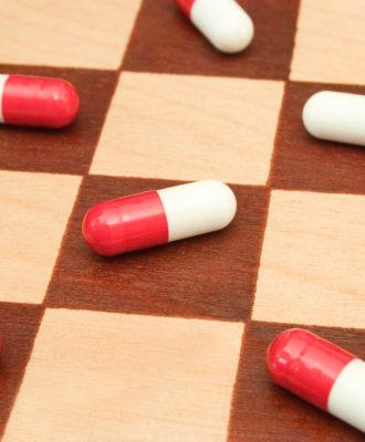 Pills on chessboard