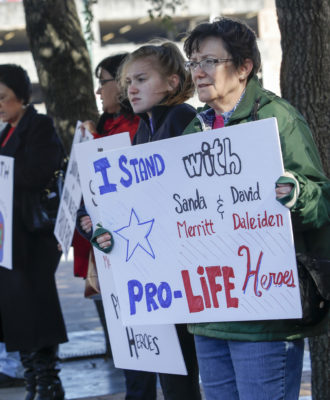 Planned Parenthood surreptitious video protest