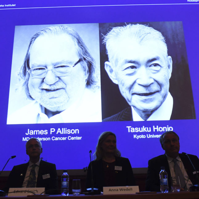 Nobel Prize in medicine awarded to two researchers for key cancer