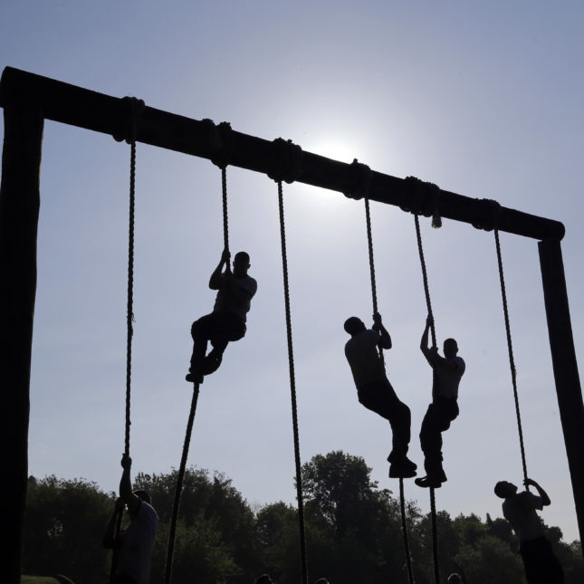 Naval academy obstacle course