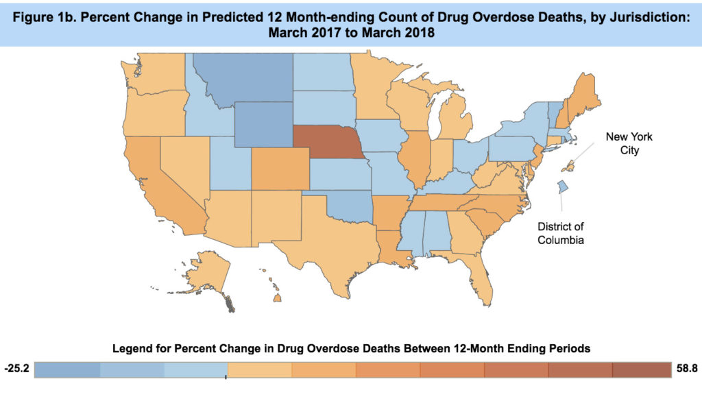 CDC Overdose deaths march 2018