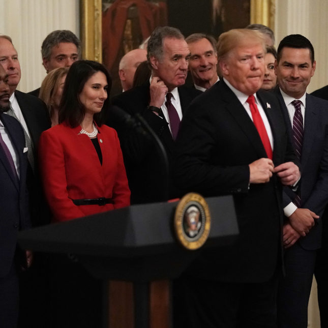 President Trump Speaks On Progress Made Combatting Opiod Crisis In East Room Of White House