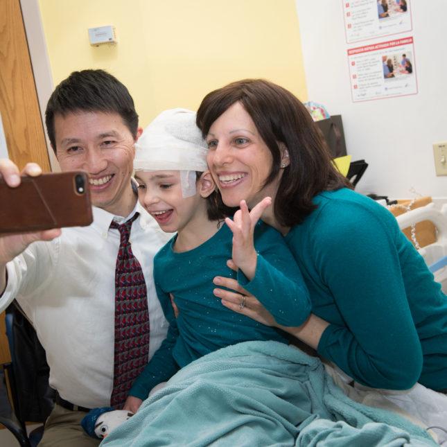 Mila selfie with Dr. Yu
