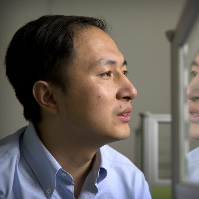 Chinese researcher He Jiankui									Mark Schiefelbein  AP