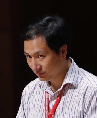 He Jiankui speaks in HK