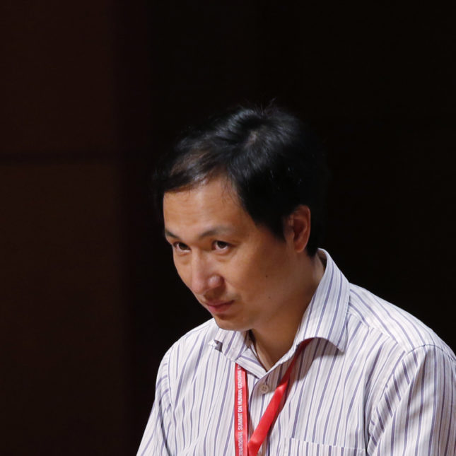 He Jiankui speaks in HK