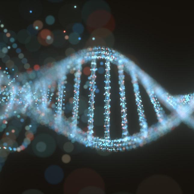 Colorful DNA molecule