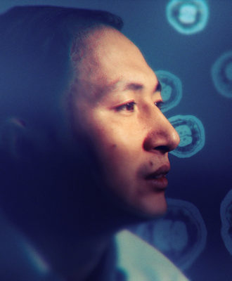 He Jiankui photo illustration