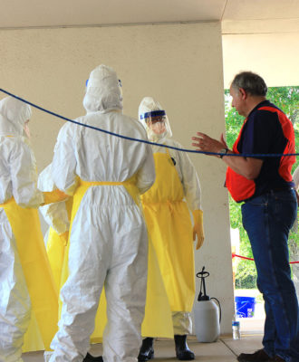 Dr. Pierre Rollin Ebola training
