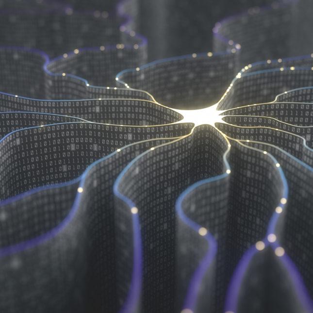 AI neuron illustration