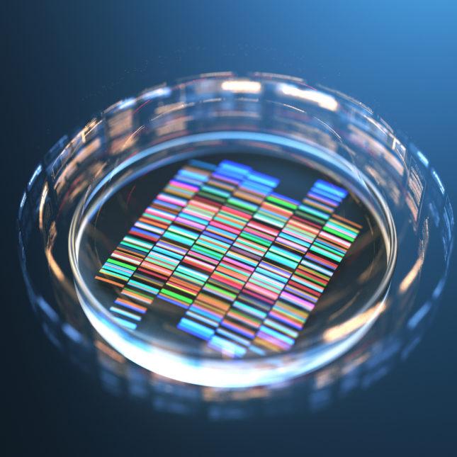 Genetic editing concept illo