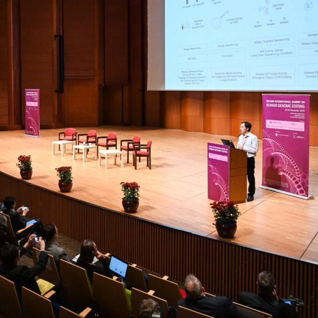 He Jiankui slide presentation