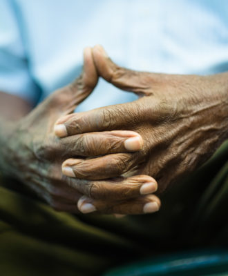 Elderly hands - African American