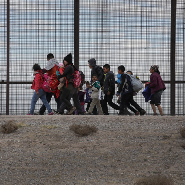 Asylum seekers at border