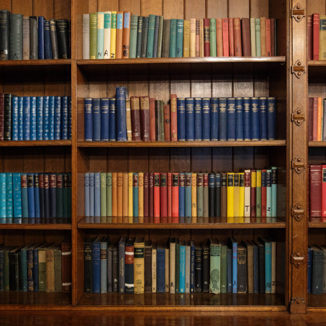 Colorful book shelf