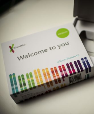 DNA testing kit - 23andMe