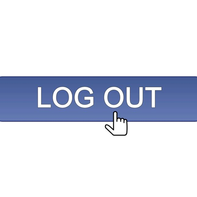 Log out screen