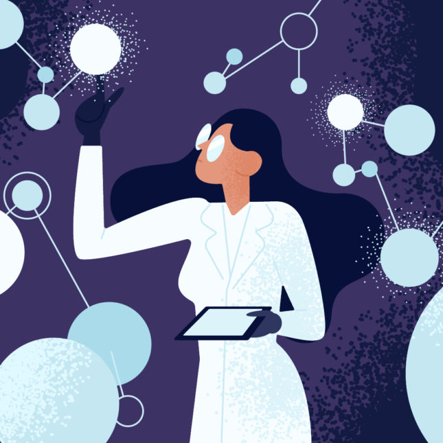 Women in science illo nobel crispr
