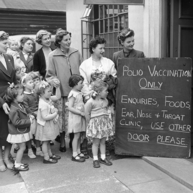 1950s polio vaccinations
