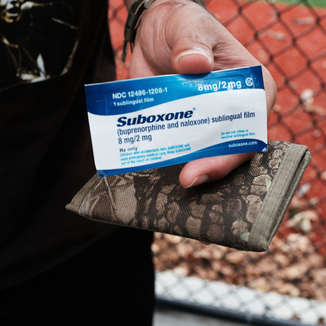Suboxone in hand