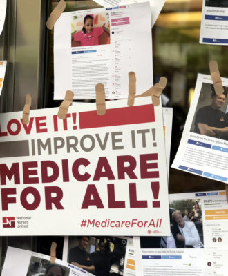 Medicare for all protest