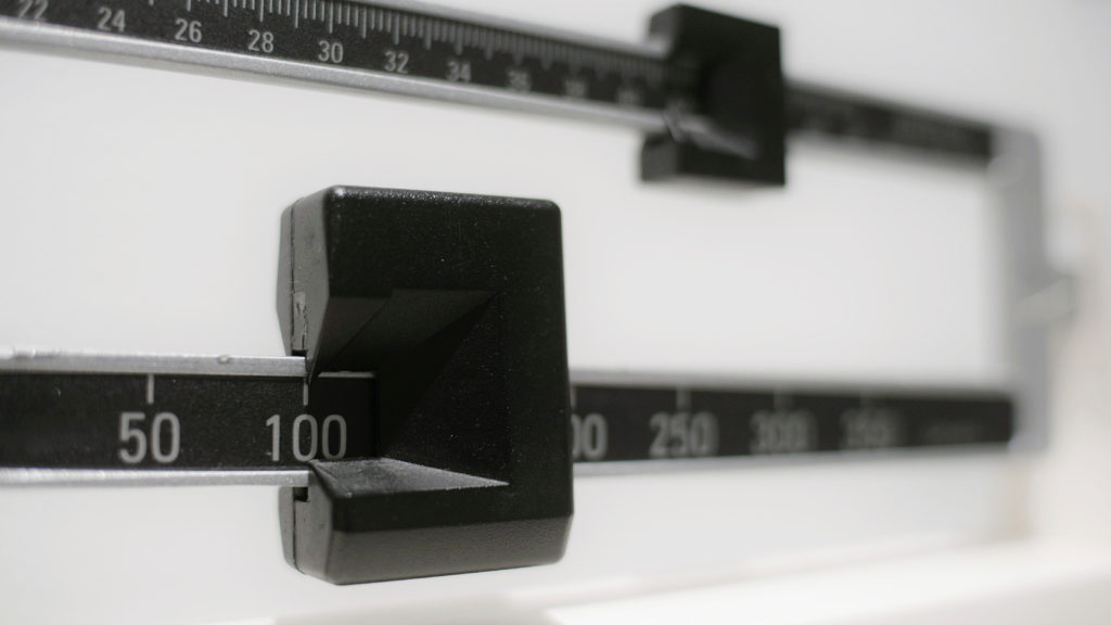 Scale close up