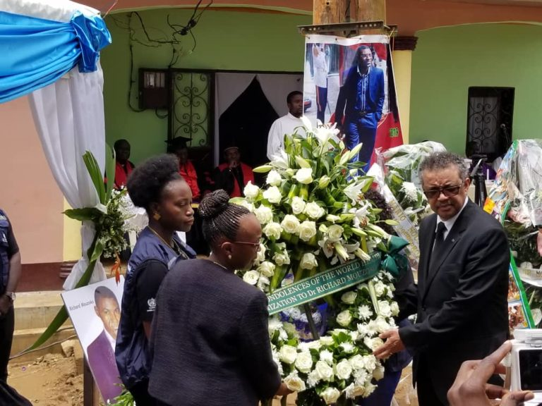 Tedros at funeral