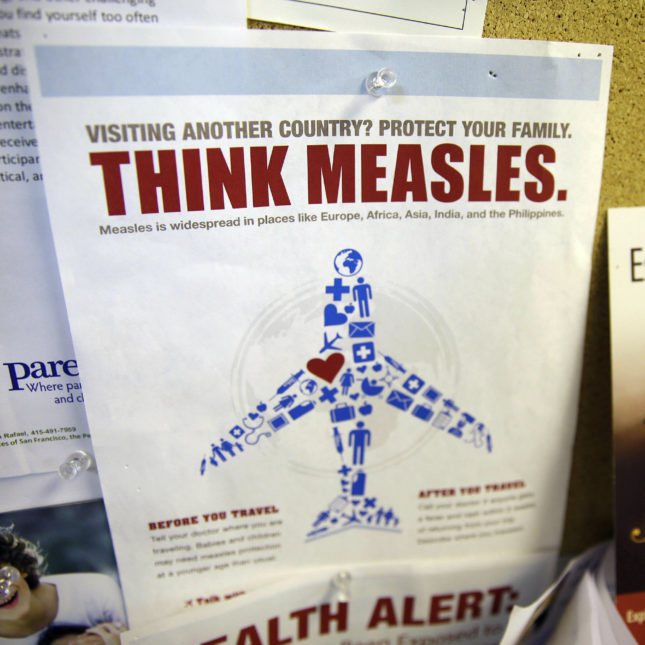 U.S. health officials report 41 new cases of measles last week