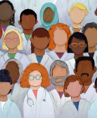 Medical school diversity illustration