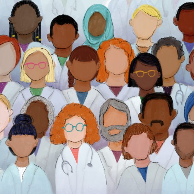 Medical school diversity illustration
