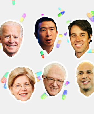Democratic Debate illo