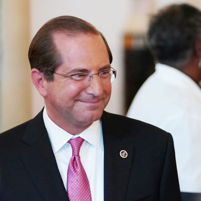 Alex Azar smiles