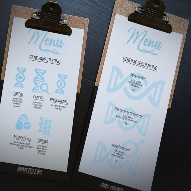 DNA menu