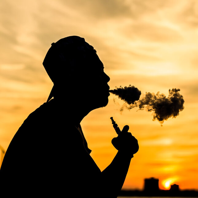 Silhouette of a vaper
