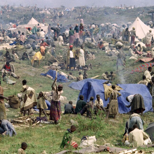 Rwandan refugee camp 1994