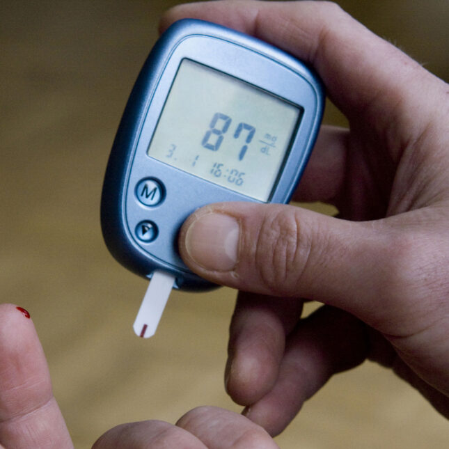 Blood sugar monitor - finger stick