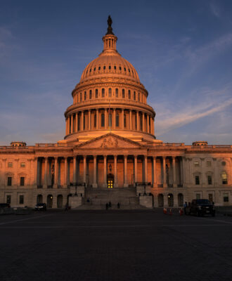 U.S. Capitol in Washington - sunrise